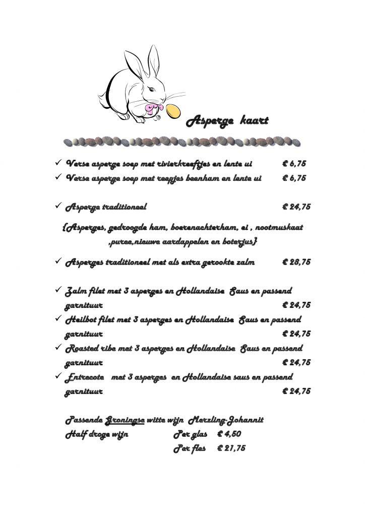 Asperge-menu-kaart